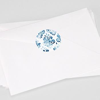 Stickers Huwelijk Portugees blauw