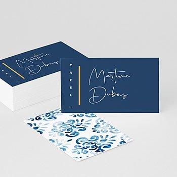 Tafelkaartjes huwelijk Portugees blauw