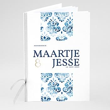 Boekomslag voor kerkboekje Portugees blauw