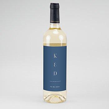 Etiket Voor Wijnfles Portugees blauw