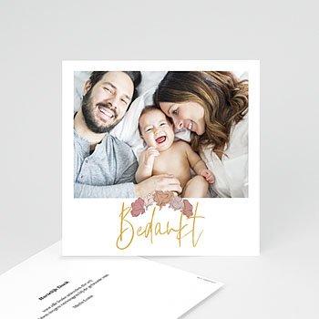 Bedankkaartjes geboorte met foto Bom Dia
