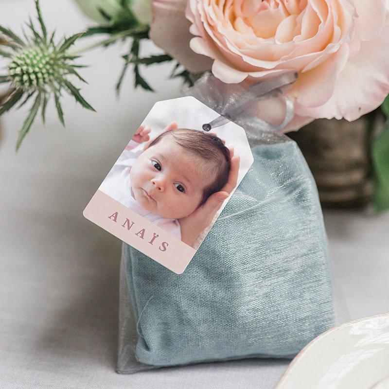 Geschenk Etiket Geboorte Muisjeshagel Meisje gratuit