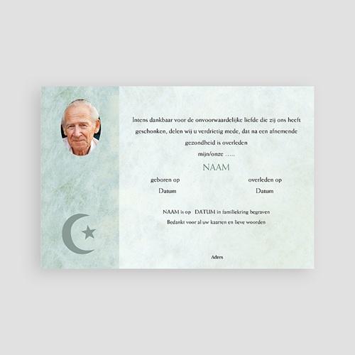 Islamistische Bedankkaartjes Overlijden In memorium - groen pas cher