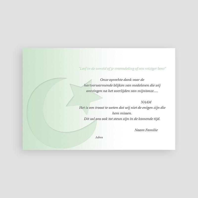 Bedankkaarten overlijden, Islamistisch Overgang naar wit pas cher