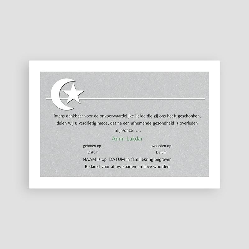 Islamistische Bedankkaartjes Overlijden Versteende horizon - grijs pas cher