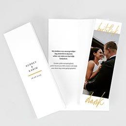 Chique bedankkaartjes huwelijk Wij gaan trouwen