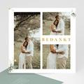 Rustieke Bedankkaartjes Bruiloft Landelijk panorama vierkant