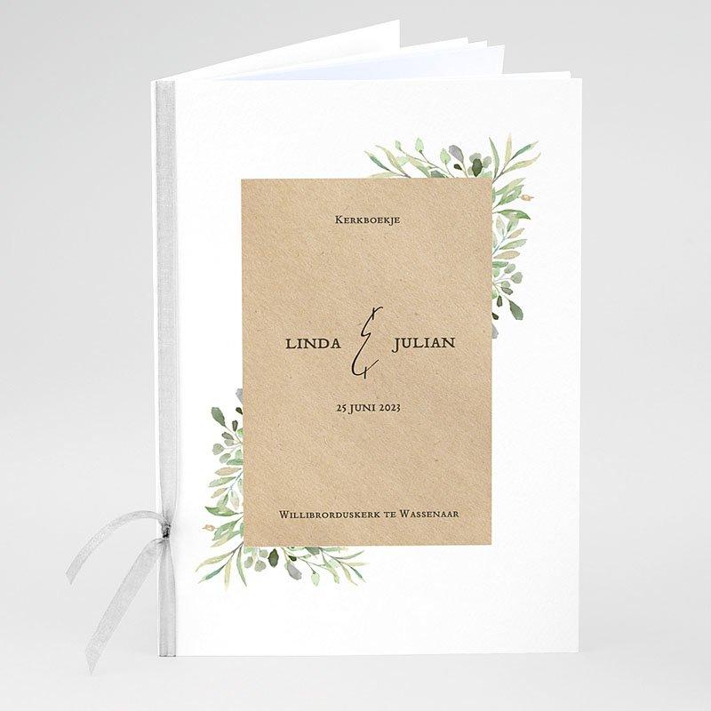 Kerkboekje Bruiloft Bladversiering