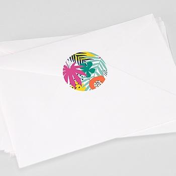 Stickers Geboorte Jungle Pink