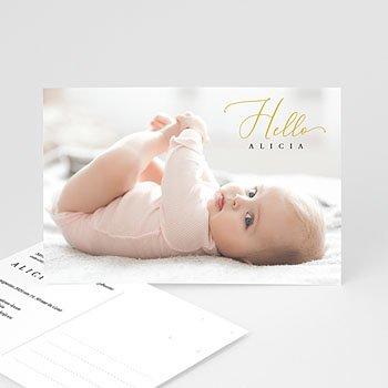 Geboortekaartje meisje Ansichtkaart Hello