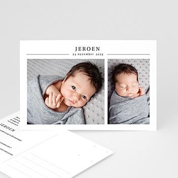 Geboortekaartje jongen Twee foto's
