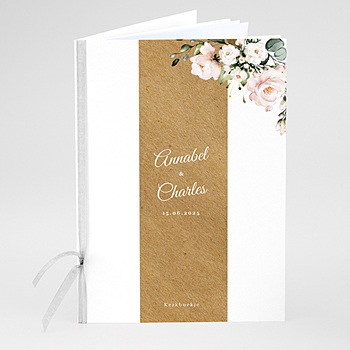 Boekomslag voor kerkboekje Romantisch Kraft & bloemen