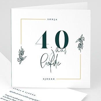Jubileumkaarten huwelijk Robijnen huwelijk  - 40 jaar
