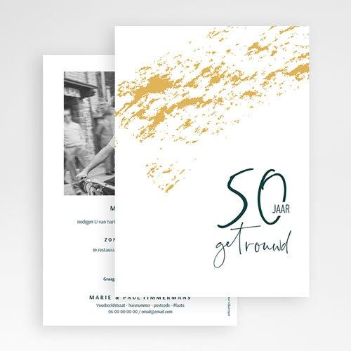 Goede Bruiloft Uitnodigingen Verjaardag Gouden Huwelijk - 50 jaar DV-52
