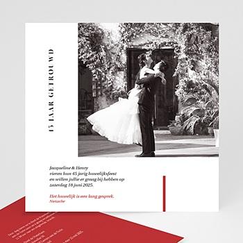 Jubileumkaarten huwelijk Vermiljoen - 45 jaar