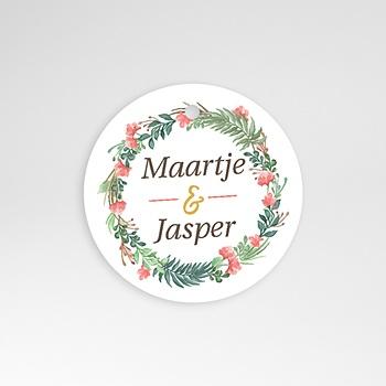 Etiket huwelijk Tropische krans