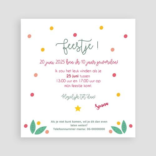 Kind Uitnodigingen Verjaardag Floral Tropical pas cher