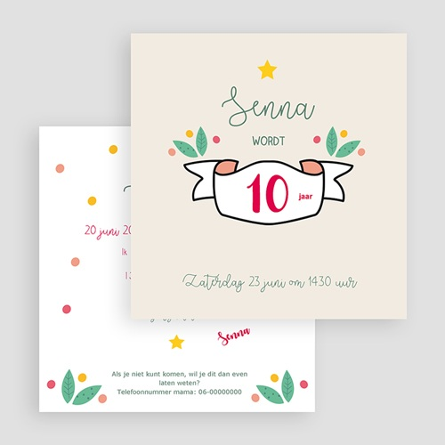 Kind Uitnodigingen Verjaardag Floral Tropical gratuit