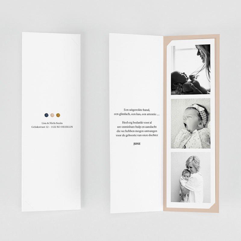 Bedankkaartjes Geboorte Meisje Regenboog gratuit