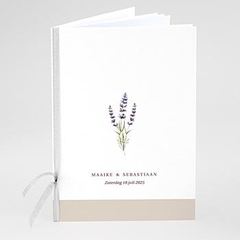 Boekomslag voor kerkboekje Lavendel