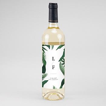 Etiket Voor Wijnfles Tropische tuin