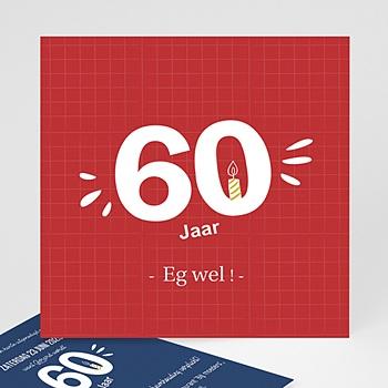 Welp Meerderjarig Uitnodigingen Verjaardag 60 jaar. Eg wel! | Eerste FM-75