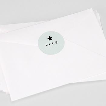 Stickers Geboorte Pepermunt