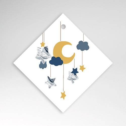 Geschenk Etiket Geboorte Nieuwe Maan