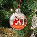 Gepersonaliseerde Kerstbal Foto, Plexiglas, diam. 7,5 cm
