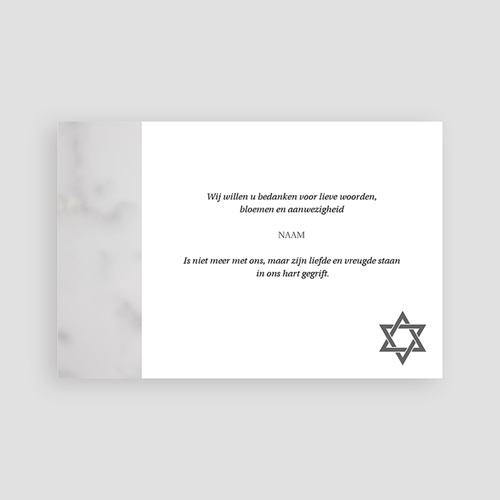 Joods Bedankkaartjes Overlijden Portret kaart David pas cher