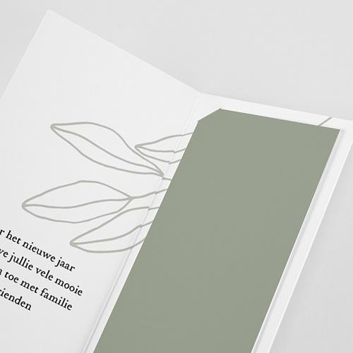 Wenskaarten Boekenlegger, dubbele kaart, groen pas cher