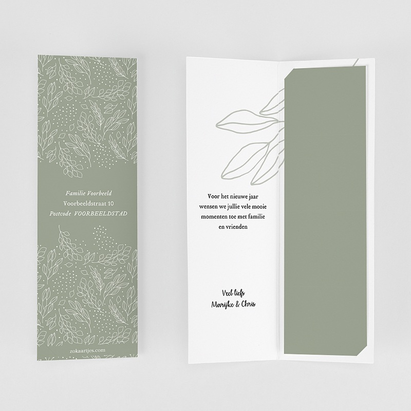 Wenskaarten Boekenlegger, dubbele kaart, groen gratuit