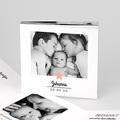 Geboortekaartjes met Foto De roze ster, Leporello formaat