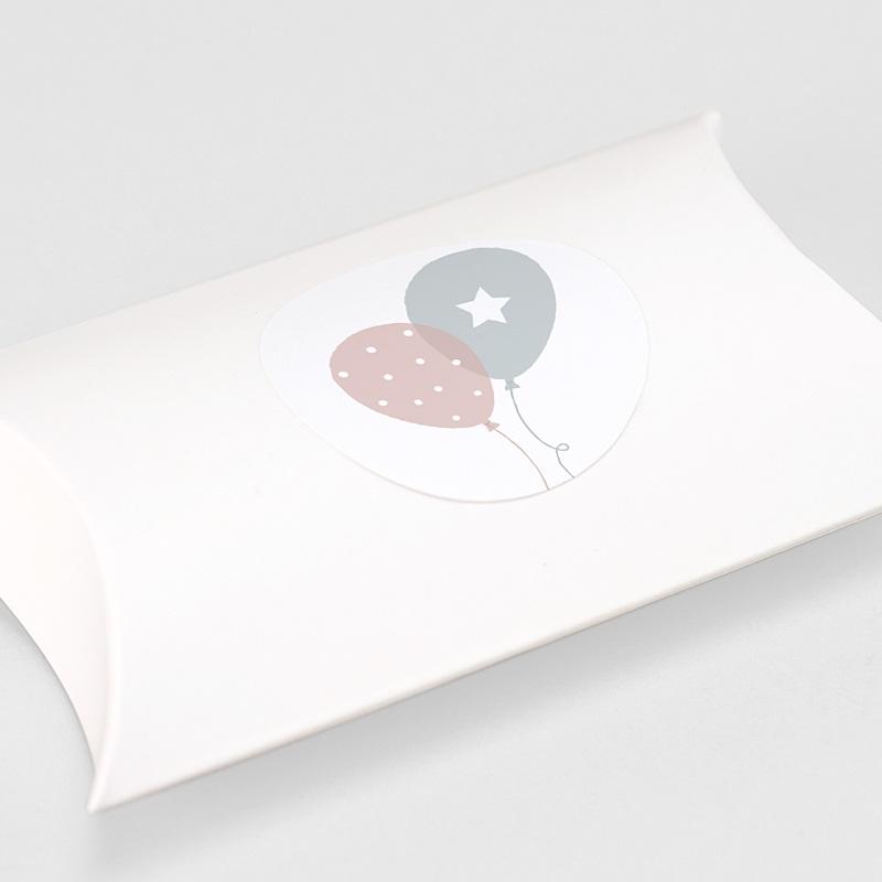 Sticker Geboorte Ballonnen, Tweelingen, Ø 4,5 cm gratuit