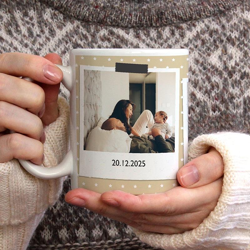 Gepersonaliseerde Fotomokken Eerste polaroids gratuit