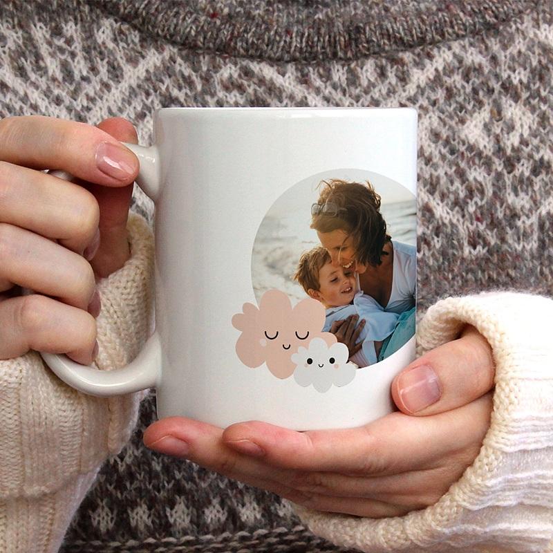 Gepersonaliseerde Fotomokken Moederdag Maman d'Amour gratuit