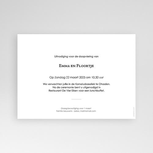 Doopkaartjes voor een Broertje of Zusje Doopfeest, twee foto's, 16,7 x 12 pas cher