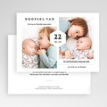 Doopkaartjes voor een Broertje of Zusje Doopfeest, twee foto's, 16,7 x 12 gratuit
