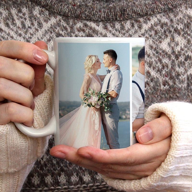 Gepersonaliseerde Fotomokken Bruiloftsmok gratuit