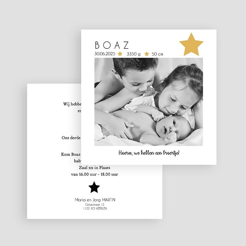 Geboortekaartjes met sterren Foto, Ster, Goudfolie gratuit