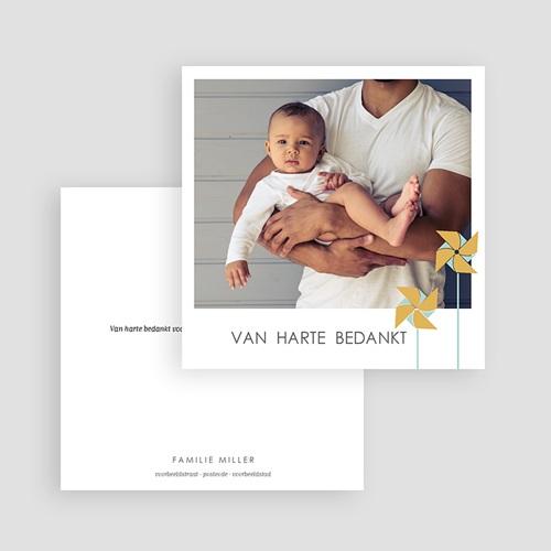 Bedankkaartjes Geboorte Jongen GOUDEN WINDMOLENTJES gratuit