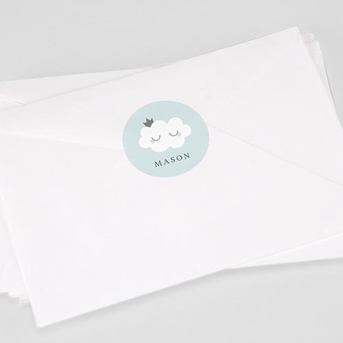 Sticker Geboorte Liittle Cloud Blue, 4,5 cm