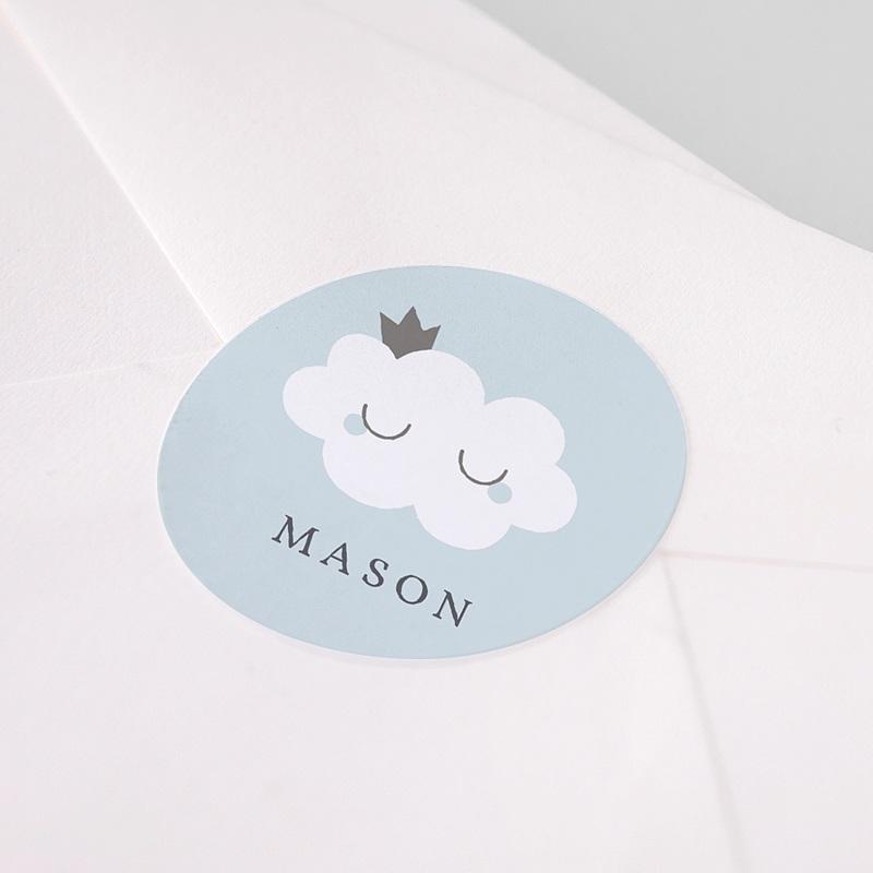 Sticker Geboorte Liittle Cloud Blue, 4,5 cm pas cher