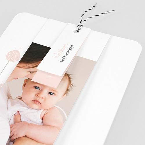 Geboortekaartjes Meisje Rozenknoppen, 3 etiketten, 1 foto pas cher