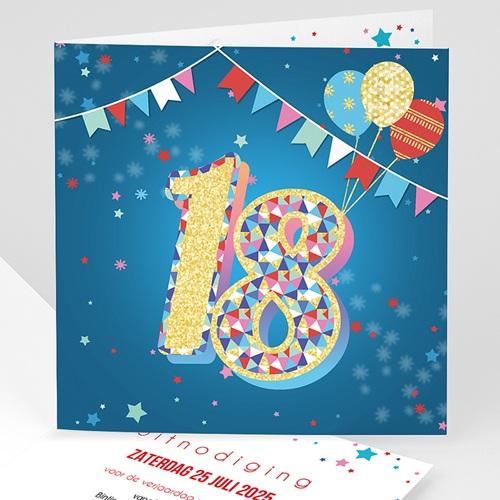 Hedendaags Meerderjarig Uitnodigingen Verjaardag Circus,18 jaar, letters in GO-37