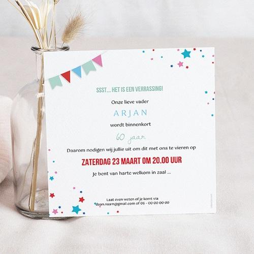 Spiksplinternieuw 60 Jaar Oud Uitnodigingen Verjaardag Circus, 60 jaar, 3D vernis UN-27