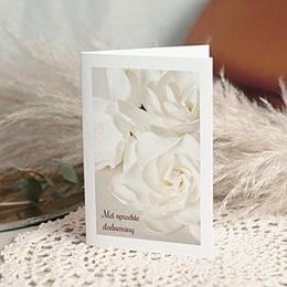 Condoleancekaarten - Condoleance witte rozen - 0