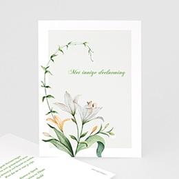 Condoleancekaarten - Witte lelies, 10 cm x 14 cm - 0