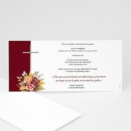 Uitnodigingen Uitvaart - Overlijdensbericht, bloemenlint en kruis - 0