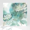 Condoleancekaarten Bloemen van Hoop, 14,5 x 15 cm